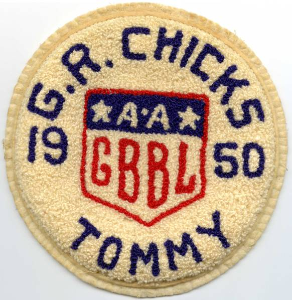 Tommie Barker's 1950 Grand Rapids Chicks Sweater Patch