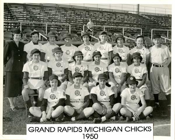 Grand Rapids Chicks 1950 Team Photo