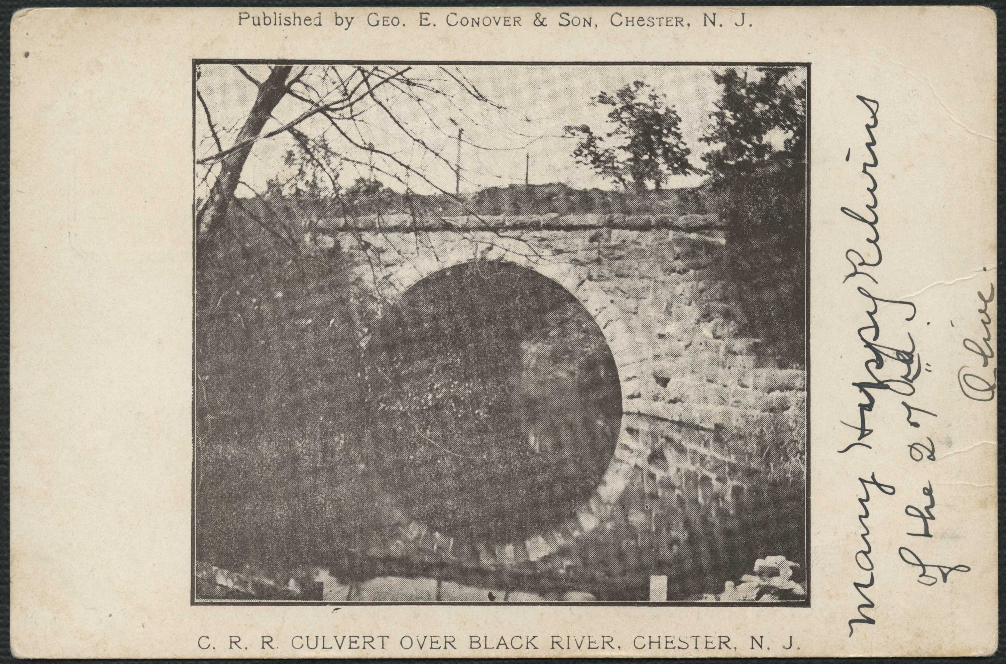 Culvert over Black River (front)