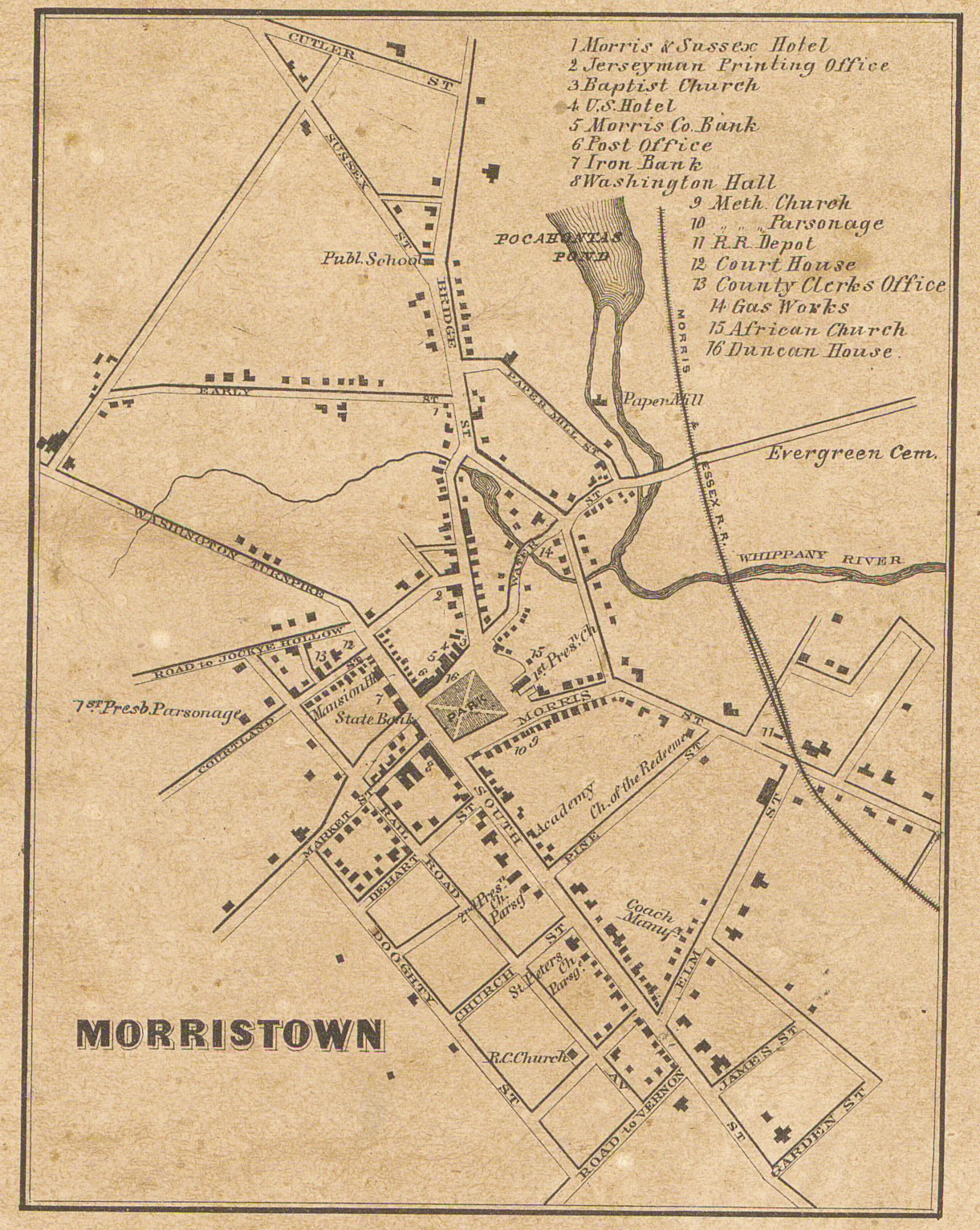 Morristown street map