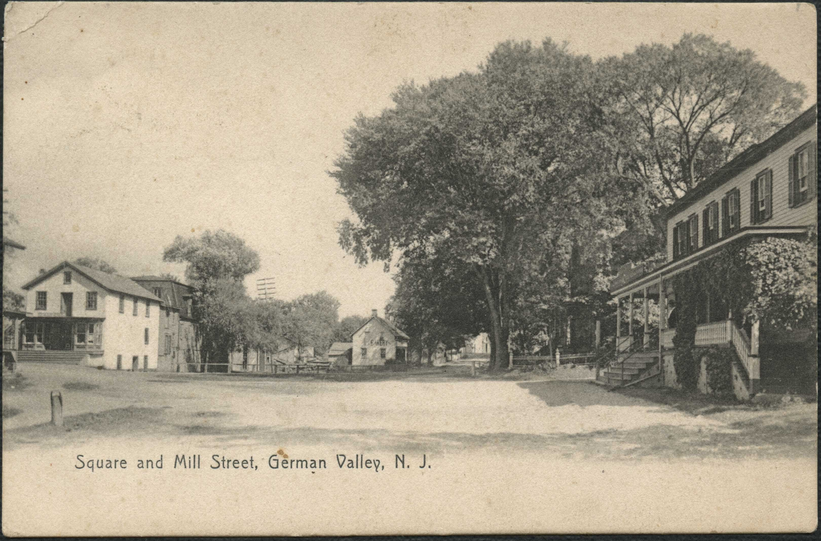 Square and Mill Street, German Valley (front)