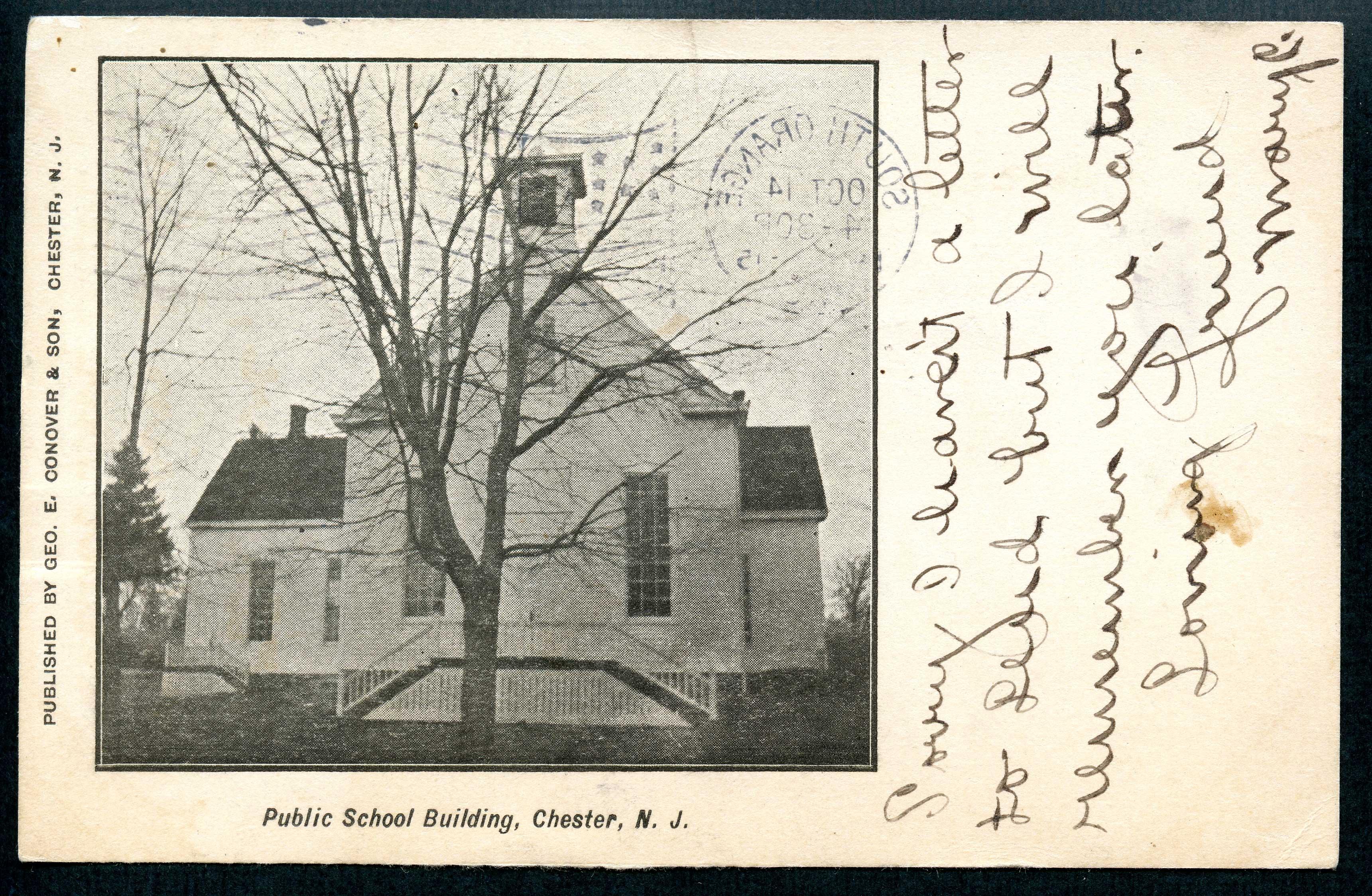 1905 Public School Building Post Card
