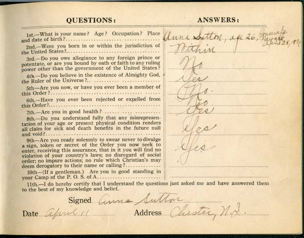Patriotic Order of Americans Question Book, page 1