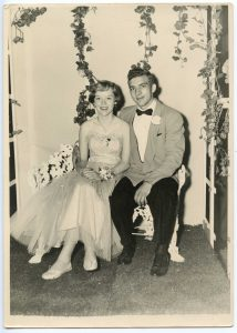 Andy Rogers and Janette Robertson at the Cranford High School Prom.