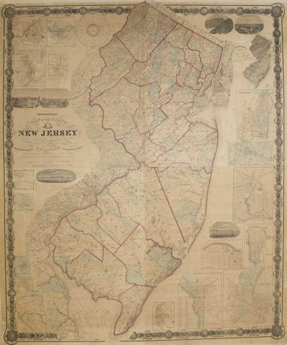 1860 NJ Topographic Map